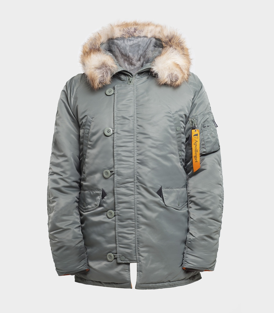 Куртка Аляска HUSKY OLIVE\ORANGE вид мини 1